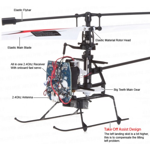 Rc Helicopter Toys Malaysia: Rc helicopter 4 channel 2.4g