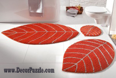 modern bathroom rug sets and bath mats 2017, orange bathroom rugs and carpets