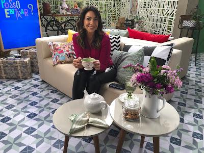 Cris Silva nas gravações do primeiro programa da nova temporada do Posso Entrar. Crédito: Jessica Barcellos