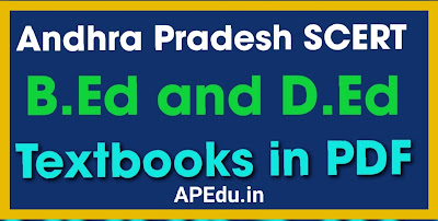 Andhra Pradesh  SCERT B.Ed and D.Ed  Textbooks PDF Free Download.