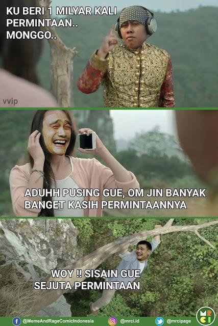 10 Meme Kocak 'Jin Beri Satu Permintaan' Ini Lumayan Bikin Kesel