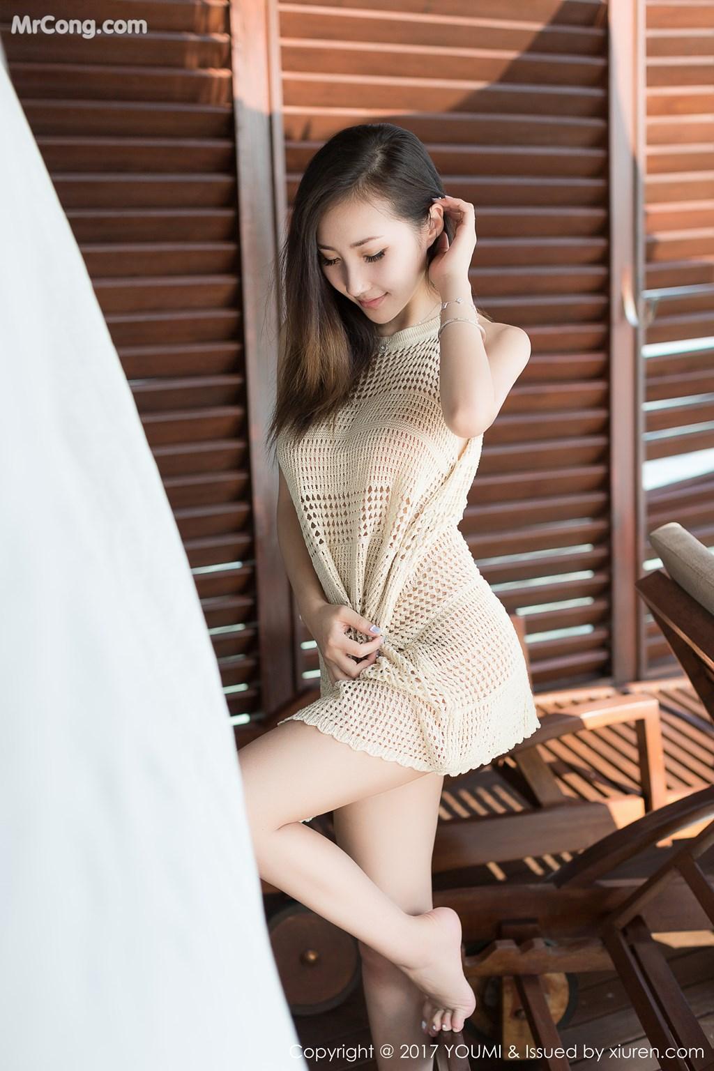 Image YouMi-Vol.100-Yumi-MrCong.com-002 in post YouMi Vol.100: Người mẫu Yumi (尤美) (42 ảnh)