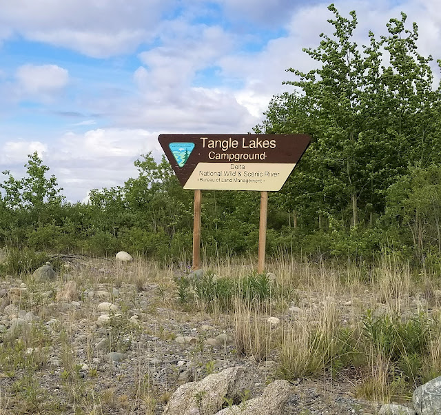 Tangle Lakes Campground Sign