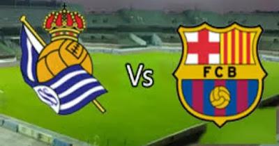 مباراة برشلونة وريال سوسيداد بث مباشر