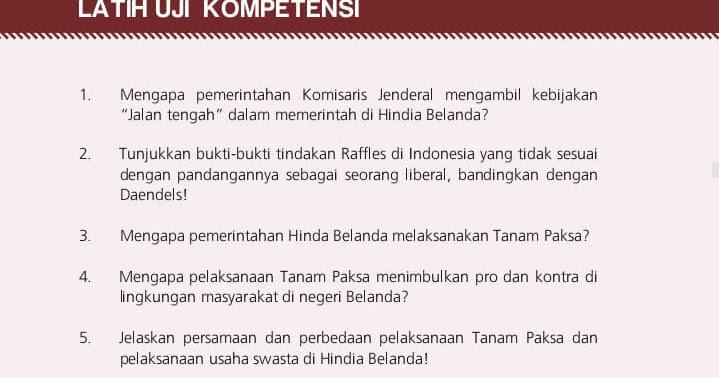 Kunci Jawaban UK Halaman 66 Sejarah Indonesia Kelas XI SMA ...