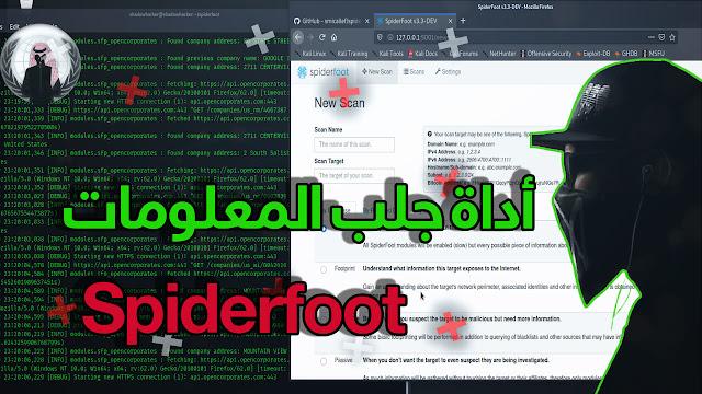 شرح أداة spiderfoot لجلب المعلومات عن الأميلات ورقم الهاتف