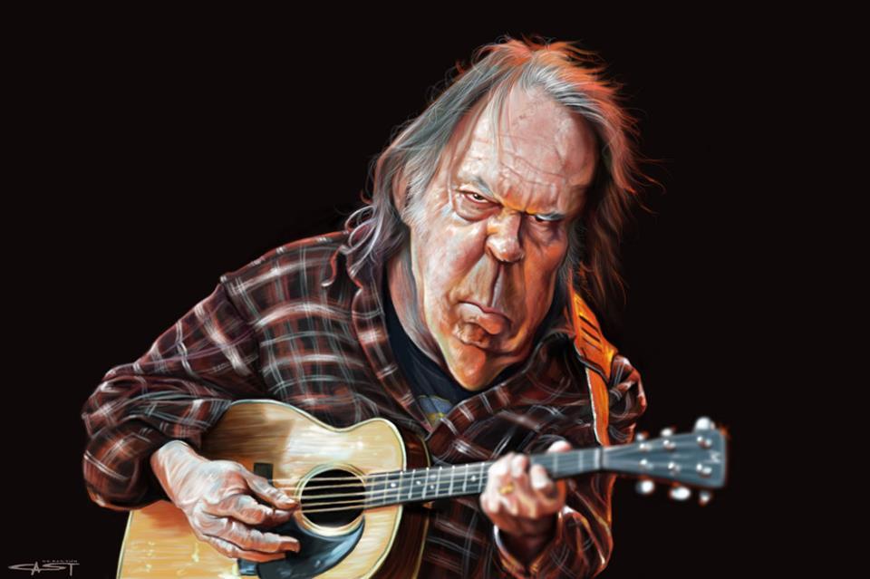 Neil Young por Sebastián Cast