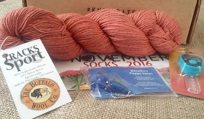 sock yarn from The Buffalo Wool Co. for JGKnits