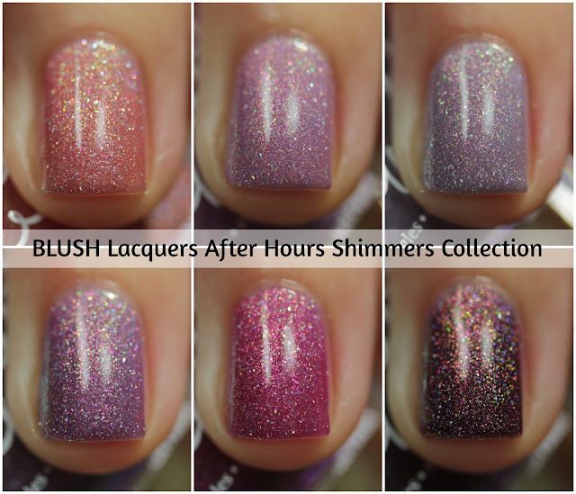 BLUSH Lacquers After Hours Shimmers Collection Swatches by Streets Ahead Style