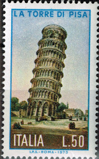Italy Famous Architecture Pisa Leaning Tower stamp 1973