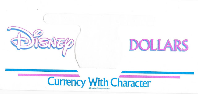 Disney Dollars Currency With Character Envelope