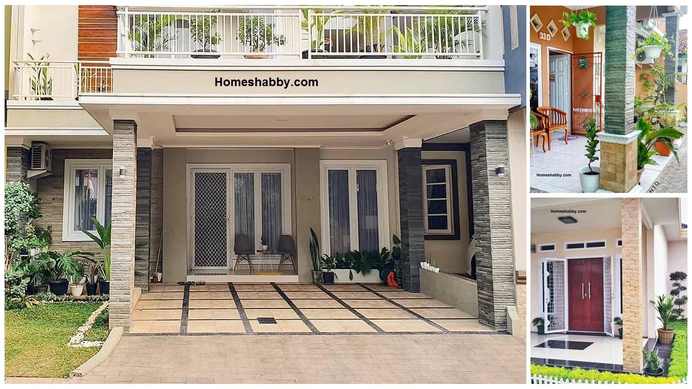 6 Desain Terbaru Model Tiang Teras Rumah Minimalis Dengan Batu Alam Desainrumahpedia Com Inspirasi Desain Rumah Minimalis Modern
