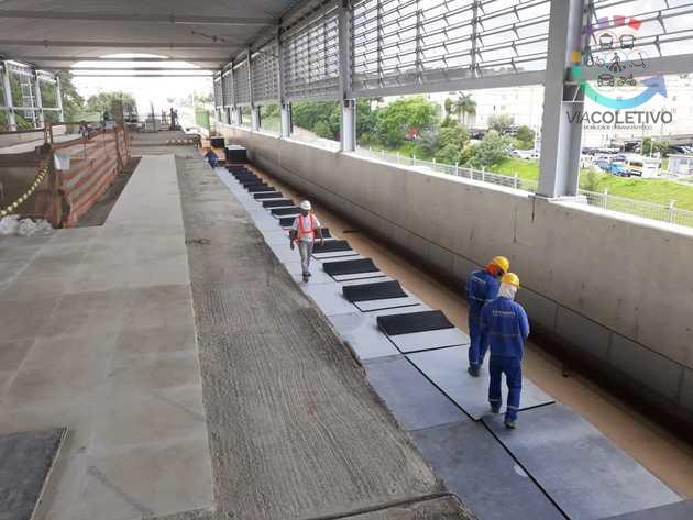 Estação Mendes-Vila Natal da Linha 9-Esmeralda da CPTM está com 50% das obras prontas; confira as imagens