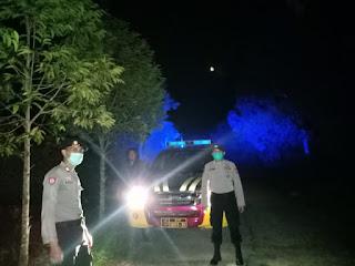 Polsek Malua Laksanakan Patroli Blue Light Dan Mensosialisasikan Adaptasi Kebiasaan Baru
