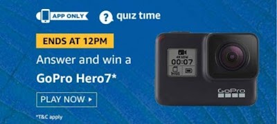 Amazon Quiz 8 October 2019