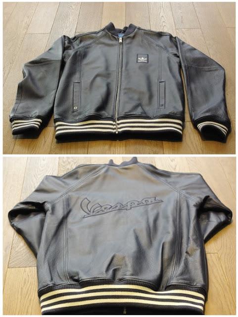 Gambar jaket kulit adidas vespa