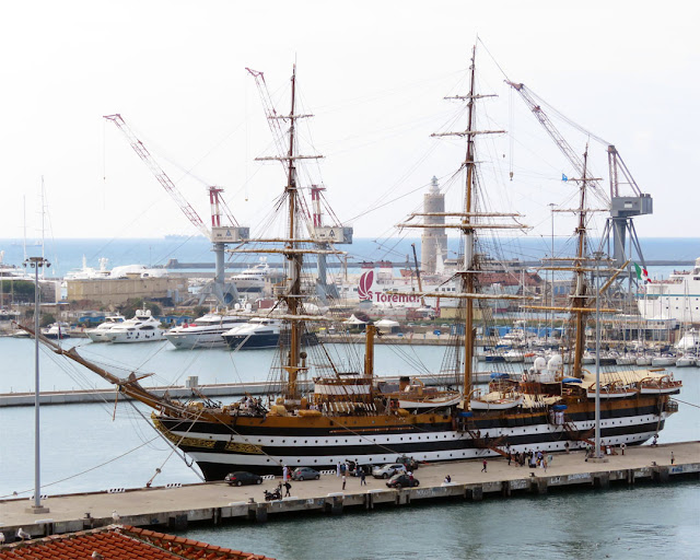 Training ship Amerigo Vespucci, Port of Livorno
