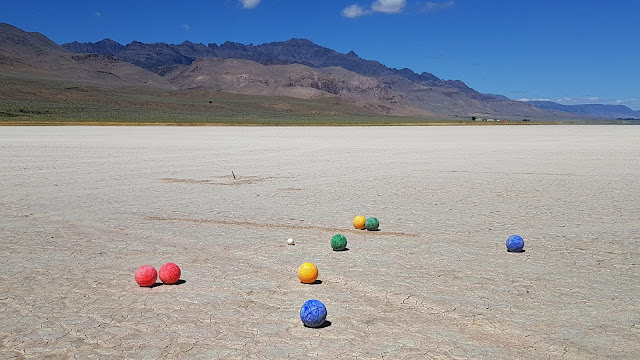Bocce on the playa...