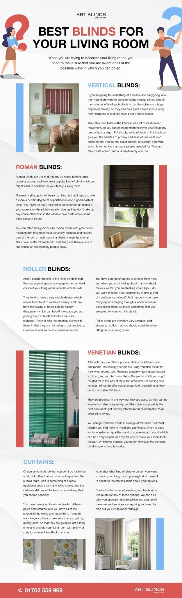 Best Blinds For Your Living Room #infographic