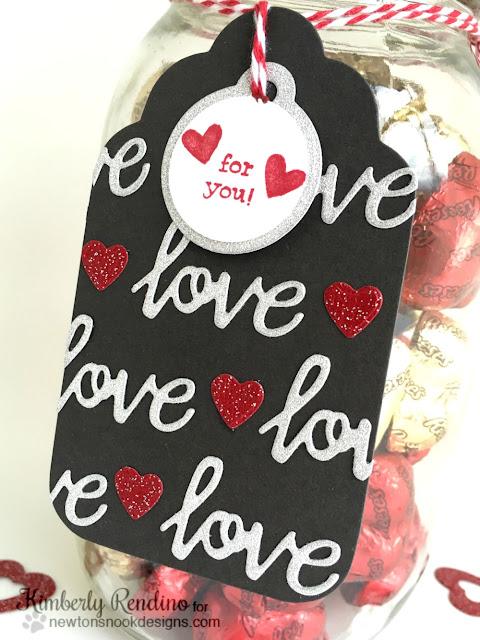 valentine gift | candy jar | handmade | tag |  newton's nook designs | kimpletekreativity.blogspot.com