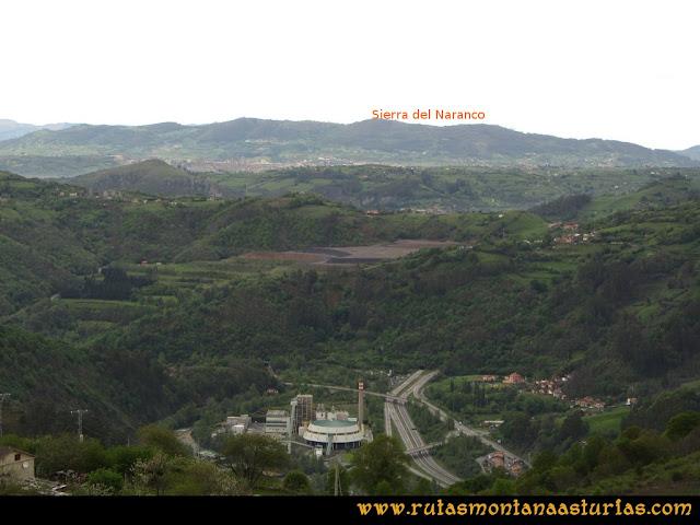 Ruta Ablaña Llosorio: Desde mirador de Seana, vista de la Sierra del Naranco