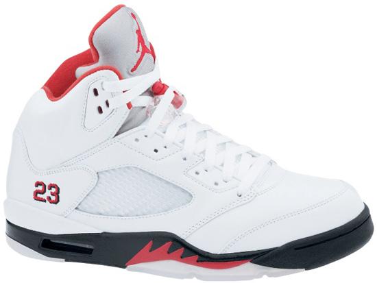 on sale 81766 fb010 Air Jordan 5 Retro Collezione (08 23 2008) 136027-163 White Fire Red-Black