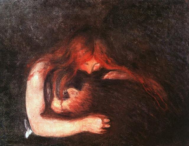 Эдвард Мунк - Вампир. 1895