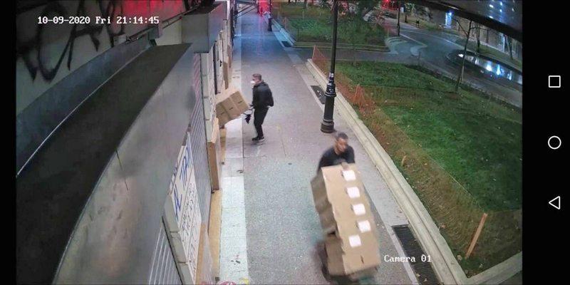 Cámara captó en HD el meticuloso robo a la Seremi de Salud