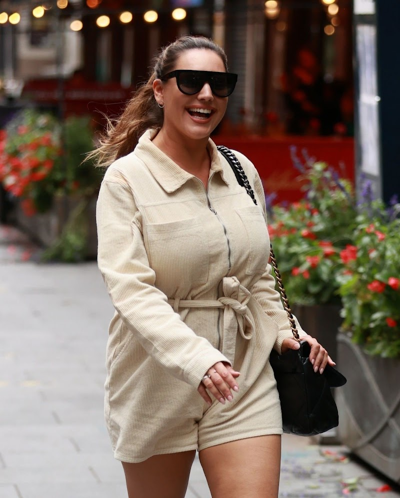 Kelly Brook Snapped While Leaving Heart Radio Studios in London 25 Aug -2020