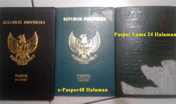 contoh e-paspor 48 halaman dan paspor 24 halaman
