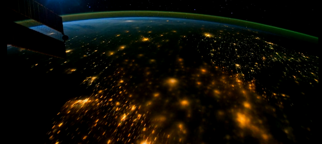 View from the ISS at Night
