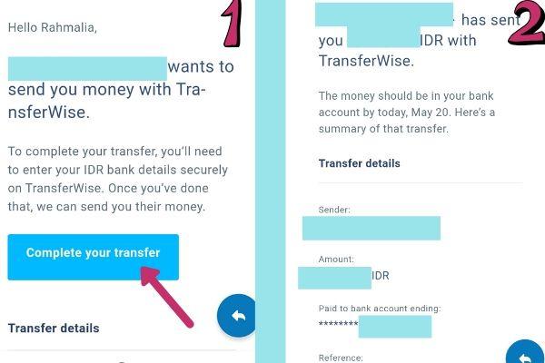 Menerima uang dengan Transferwise