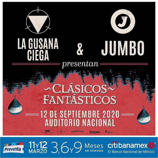 La Gusana Ciega y Jumbo juntos en Auditorio Nacional
