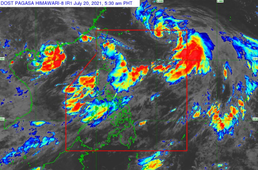Satellite image of Tropical Storm 'Fabian' as of 5:30 am, July 20, 2021