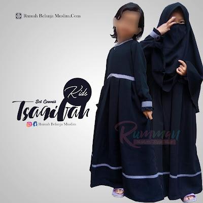 Gamis Syari Anak Tsaqifah Kids Hitam