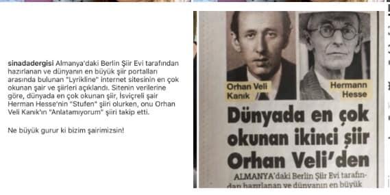 Dünyanın En Çok Okunan İkinci Şiiri Orhan Veli KANIK'tan!