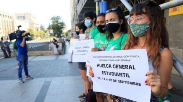 Sindicato de estudiantes en España convoca a huelga general