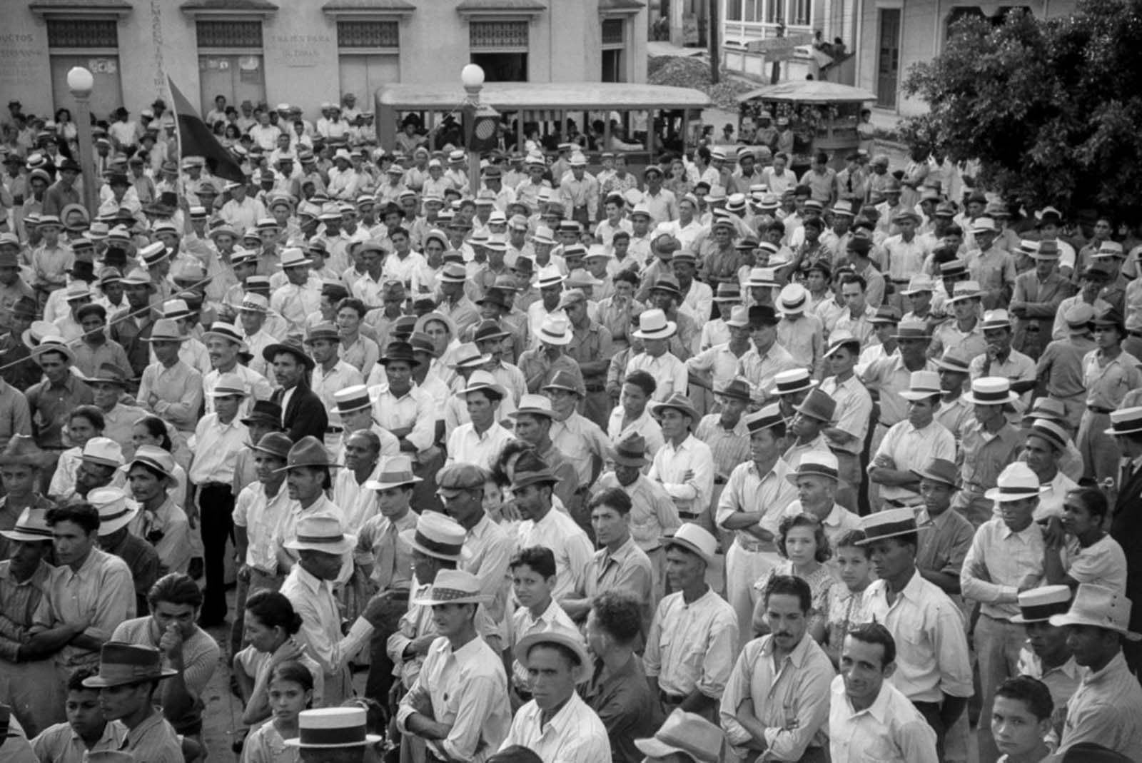 A meeting of striking workers in Yabucoa.