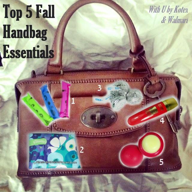 u by kotex and walmart top 5 fall handbag must-haves