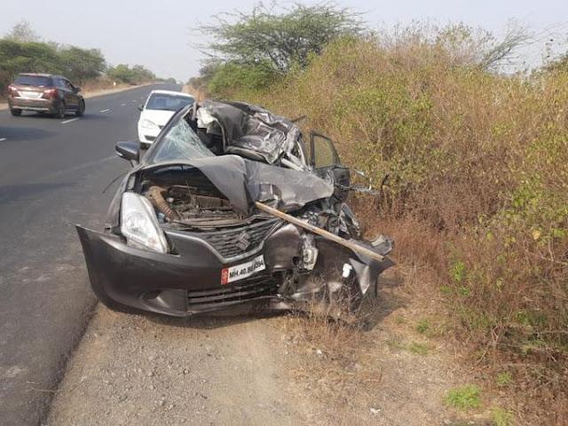मुलगी चालवित होती कार;  भीषण अपघातात तीन ठार