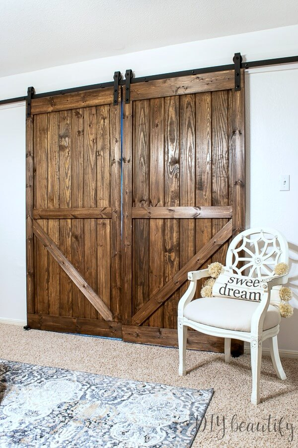 rustic double barn doors