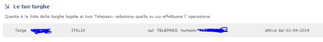 Come aggiungere seconda targa Telepass