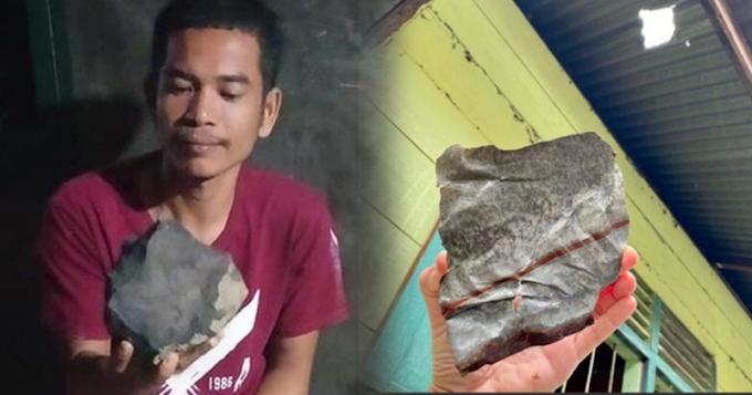 """Instant milyonaryo ang isang karpintero, nang ibenta niya ang """"meteorite"""" na bumagsak sa harap ng kanyang bahay!"""