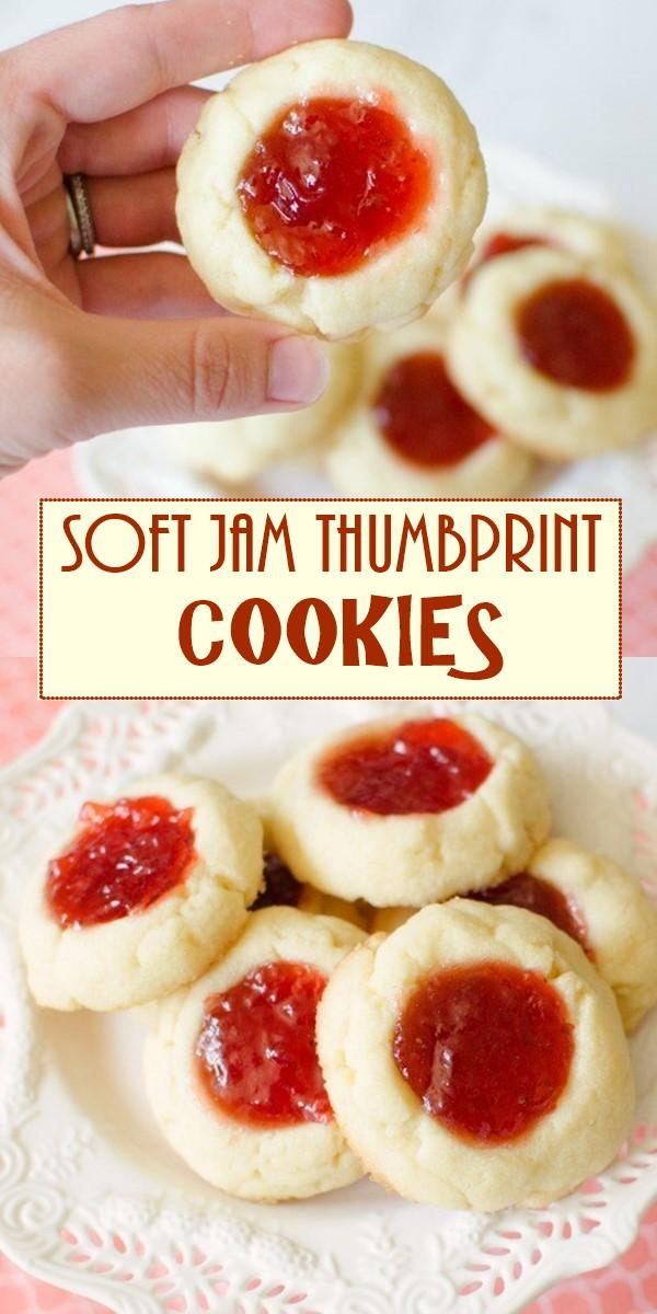 SOFT JAM THUMBPRINT COOKIES #cookiesrecipes