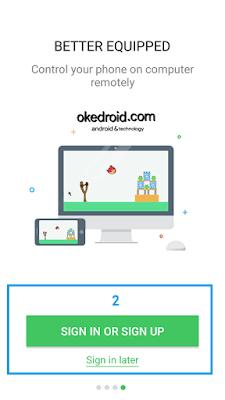 AirDroid Tampilan Awal Android