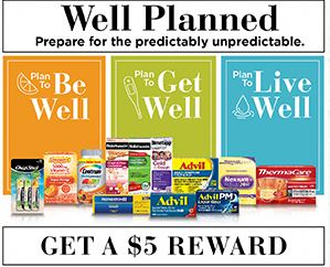 Submit for $5.00 Perpaid Visa card when you spend $20.00 on select Pfizer products.