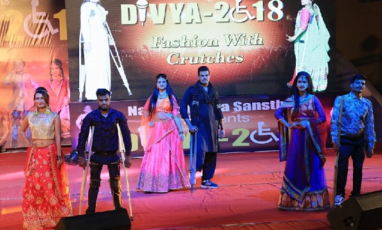 jaipur, rajasthan, narayan seva sansthan, narayan seva sansthan udaipur, divya 2018, talent show, disabled fashion show, jaipur news, rajasthan news
