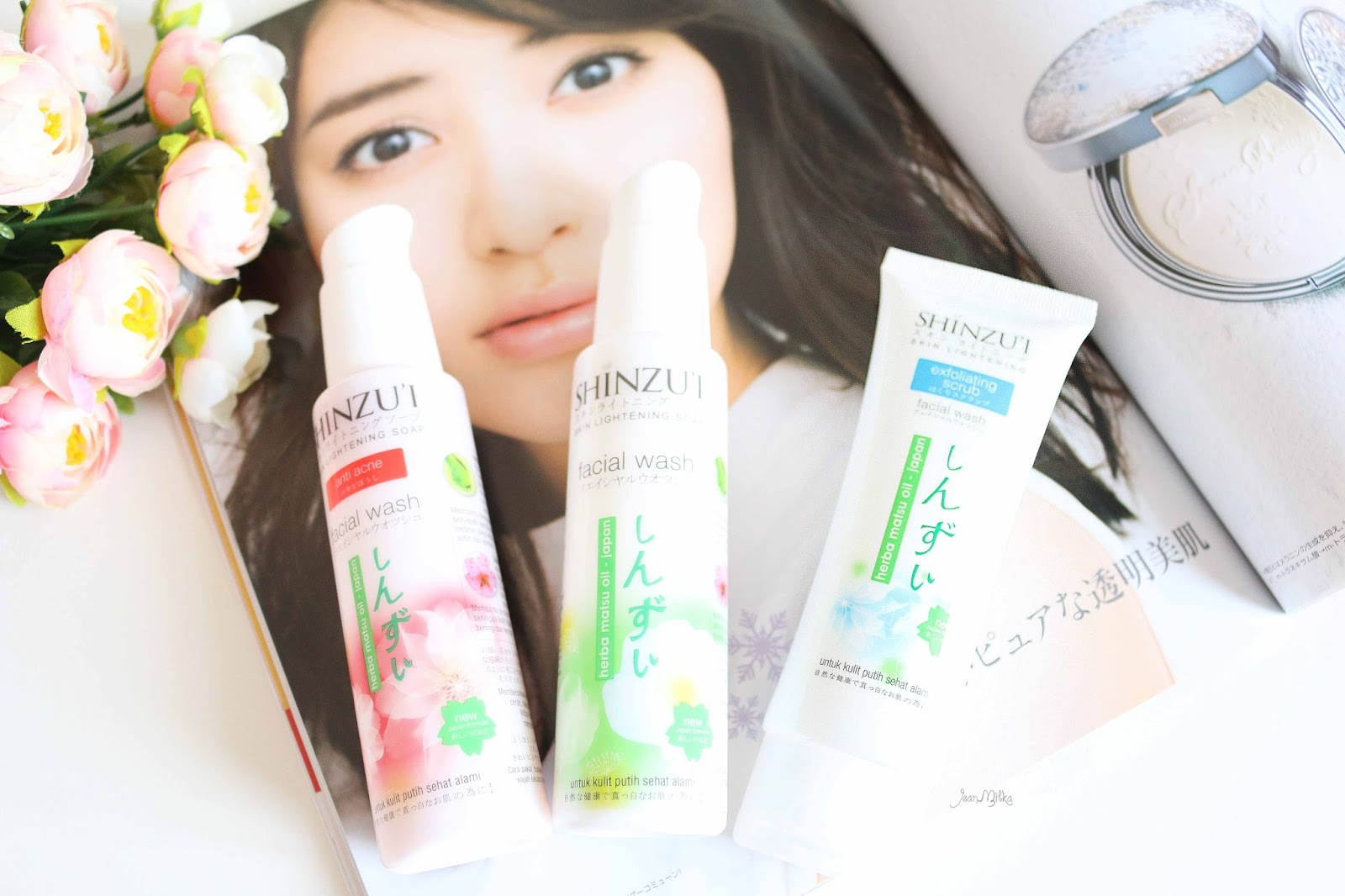 shinzui, putih itu shinzui, skin care, review shinzui, shinzui lightening series, shinzui scrub, shinzui facial wash