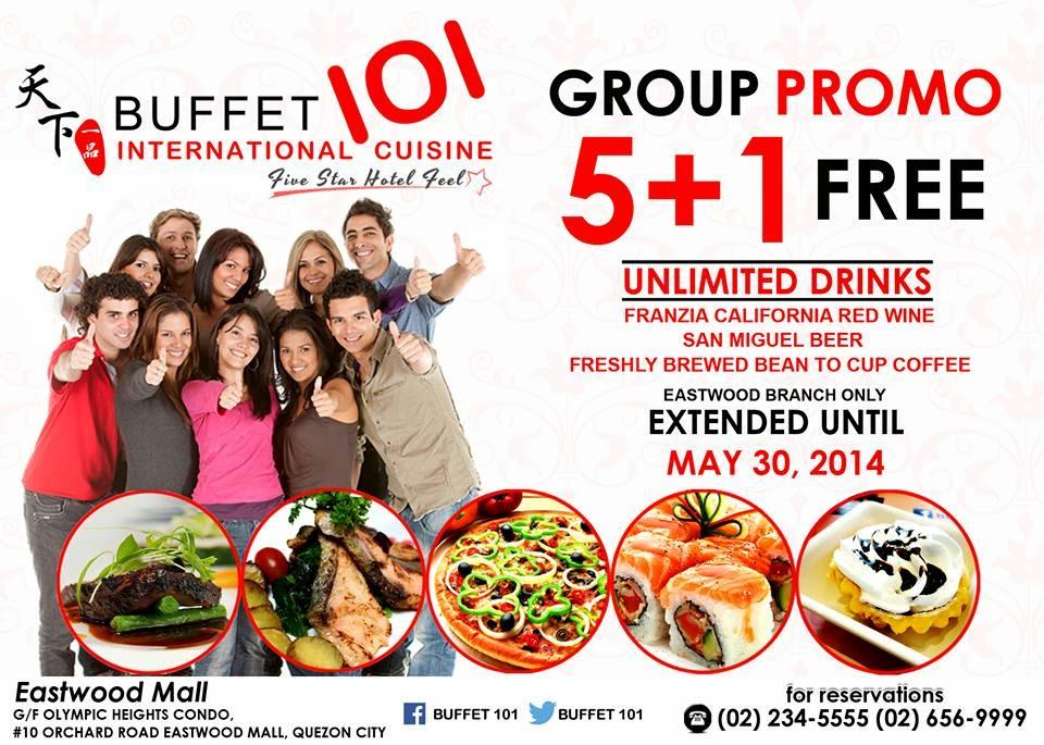 Manila Shopper Buffet 101 Eastwood Group 5 1 Promo