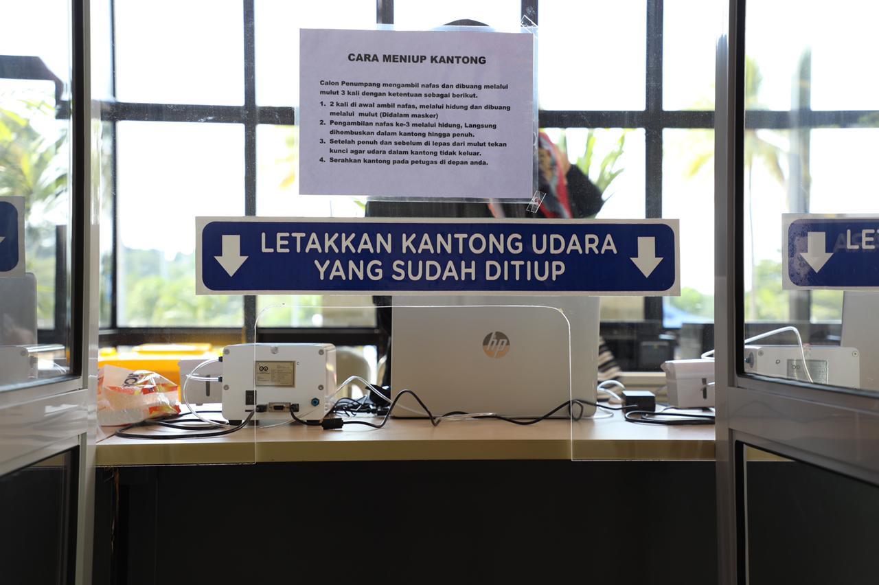 Setelah Mendaftar Secara Online, Calon Penumpang Dapat Melakukan Test GeNose C19 di Bandara Hang Nadim Batam